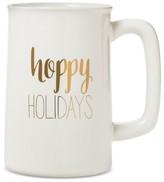 "Threshold Hoppy Holidays"" Beer Mug 20oz Stoneware White"