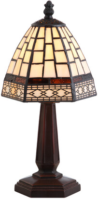 Jonathan Y Designs Carter Tiffany-Style 12In Table Lamp