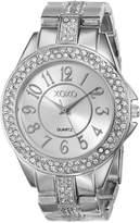 XOXO Women's XO5463 Rhinestone Accent -Tone Analog Bracelet Watch