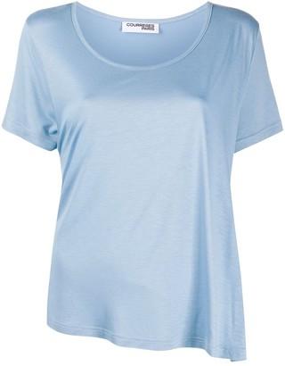 Courreges asymmetric hem T-shirt