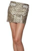Just Cavalli Mercury Print Cotton Heavy Gauze Skirt