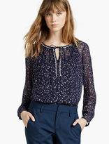 Lucky Brand Lurex Printed Top