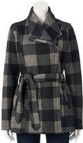 Steve Madden Juniors' Girl Side-Zip Plaid Jacket