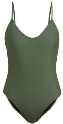 Bower - Hutton Scoop-back Swimsuit - Womens - Dark Green