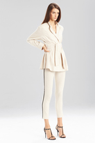 Josie Natori Stretch Cotton Linen Pant