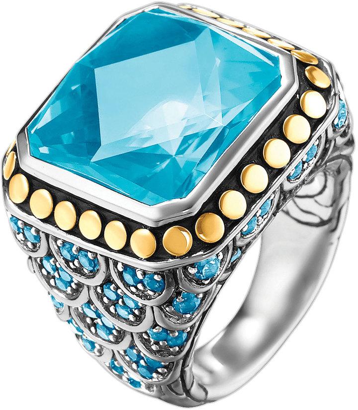 John Hardy Batu Naga Ring, Blue Topaz, Size 7