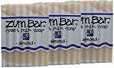 Indigo Wild Zum Bar Goat's Milk Soap Bar, Almond 3 oz (3 pack)