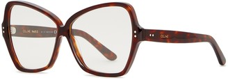 Celine Tortoiseshell oversized optical glasses