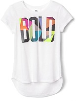 Gap GapFit kids graphic hi-lo tee