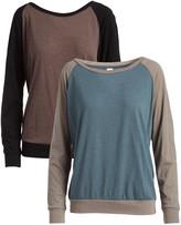Pima Apparel Women's Pullover Sweaters Indigo/Ash, - Indigo & Espresso Color Block Pullover Set - Women