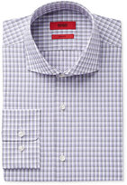 HUGO BOSS HUGO Men's Slim-Fit Purple Check Dress Shirt