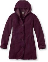 L.L. Bean Women's Kingfield Fleece Coat, Hooded