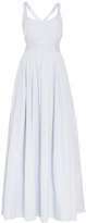 Brock Collection Daph Cotton Cross Back Maxi Dress