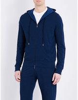 Canali Marl-effect Fleece Wool Tracksuit Top