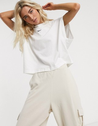 Nike high neck white t-shirt