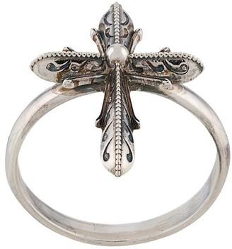 Emanuele Bicocchi Ornate Cross Ring