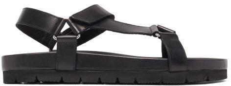 Grenson Lyndon Leather Sandals - Black