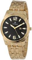 Titan Men's 9383YM03 Regalia Date Function and Luminous Hands and Markers Watch