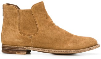 Officine Creative Textured Back Zip Boots