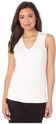 Nic+Zoe Soft Eaze Tank (Paper White) Women's Clothing