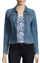 Rebecca Taylor Front Zip Denim Jacket