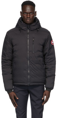 Canada Goose Black Down Packable Lodge Hooded Jacket