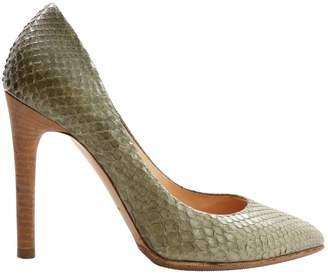 Reed Krakoff Khaki Python Heels