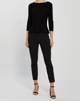 David Lawrence Pyper Peplum Knit