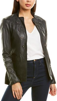 Jakett Rebecca Burnished Leather Jacket