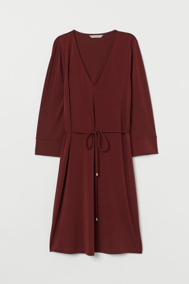 H&M V-neck Dress - Beige