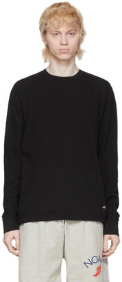 Noah NYC Black Recycled Cotton Long Sleeve T-Shirt