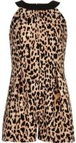 River Island Girls brown leopard print romper