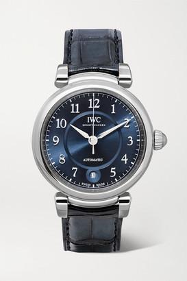 IWC SCHAFFHAUSEN - Da Vinci Automatic 36mm Stainless Steel And Alligator Watch - Silver