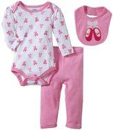 Bon Bebe Ballerina Shoes Bodysuit Set (Baby)-Multicolor-6-9 Months