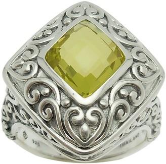 Elyse Ryan Sterling Silver 3.00 cttw Lemon Quartz Ring