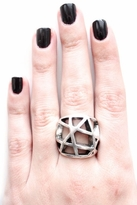 Low Luv by Erin Wasson Domed Cage Ring in Silver