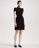 Valentino Fit-and-Flare Knit Dress