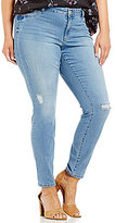 Jessica Simpson Plus Distressed Kiss Me Super Skinny Jeans