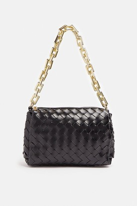 Coast Weaved Chunky Chain Strap Shoulder Bag