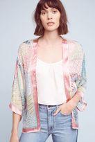 Anthropologie Astra Printed Patchwork Kimono, Pink