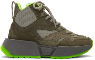 MM6 MAISON MARGIELA Green Flared High-Top Sneakers