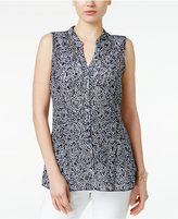Charter Club Lace Dot-Print Top, Only at Macy's