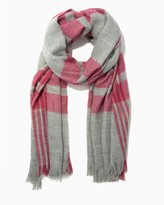 Charming charlie Bright Plaid Blanket Scarf