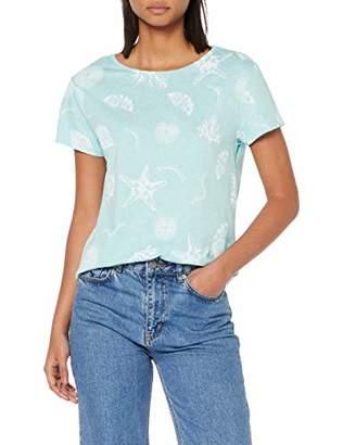 Esprit Women's 049ee1k072 T-Shirt, (Pastel Blue 435), Small