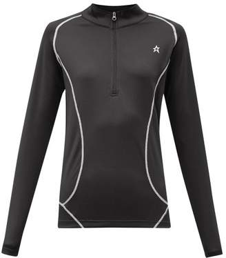 Perfect Moment Half-zip Technical-jersey Thermal Top - Womens - Black