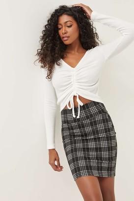 Ardene Crepe Bodycon Mini Skirt
