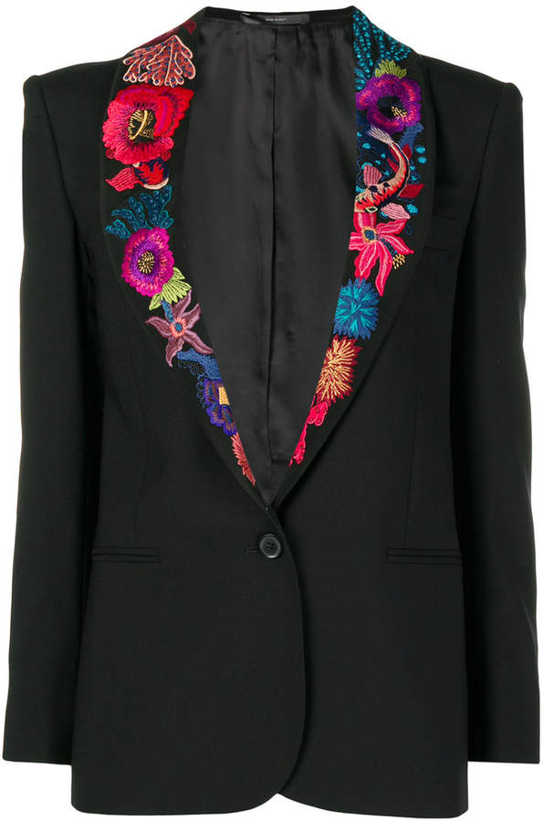 Paul Smith Ocean embroidered blazer