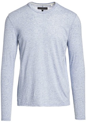 Rag & Bone Lincoln Speckled Long-Sleeve Tee