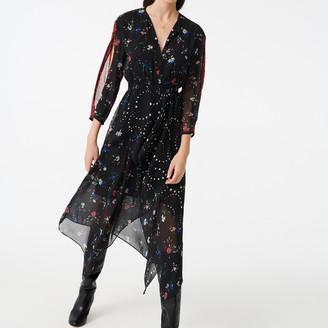 Maje Mixed print scarf dress
