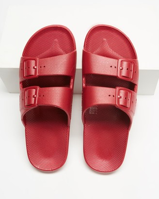 Freedom Moses Red Sandals - Slides - Unisex - Size One Size, 34/35 at The Iconic